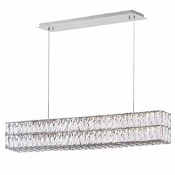 "47"" LED Chandelier with Chrome Finish"