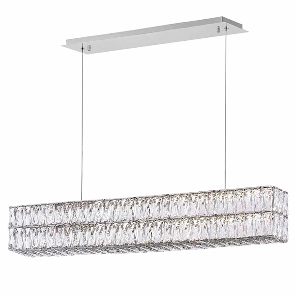 "Picture of 47"" LED Chandelier with Chrome Finish"