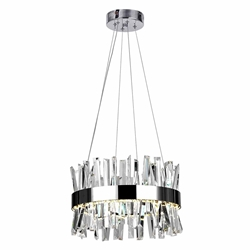 """18"""" LED Chandelier with Chrome Finish"""