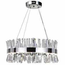 """26"""" LED Chandelier with Chrome Finish"""