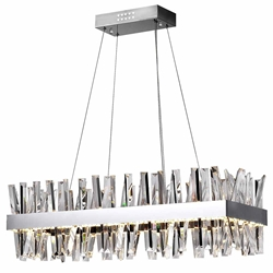 """34"""" LED Chandelier with Chrome Finish"""