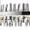 """Picture of 50"""" LED Chandelier with Chrome Finish"""