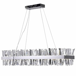 """50"""" LED Chandelier with Chrome Finish"""