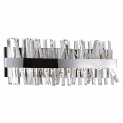 """24"""" LED Wall Sconce with Chrome Finish"""