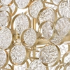 """Picture of 21"""" 7 Light Chandelier with Gold Leaf Finish"""