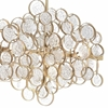 "Picture of 40"" 12 Light Chandelier with Gold Leaf Finish"