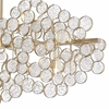 "Picture of 58"" 15 Light Chandelier with Gold Leaf Finish"