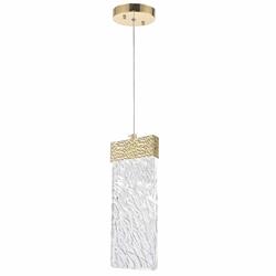 """13"""" LED Pendant with Gold Leaf Finish"""