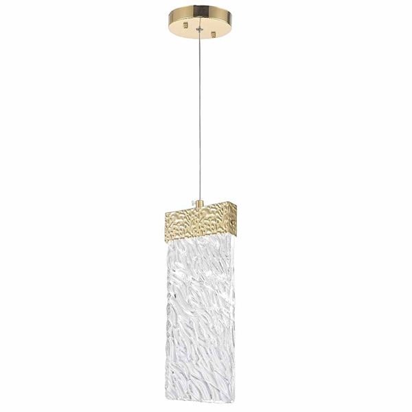 """Picture of 13"""" LED Pendant with Gold Leaf Finish"""
