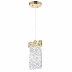 """10"""" LED Pendant with Gold Leaf Finish"""