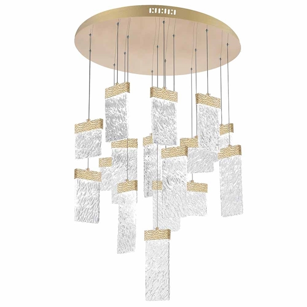 """Picture of 32"""" LED Chandelier with Gold Leaf Finish"""