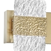 "Picture of 21"" LED Wall Sconce with Gold Leaf Finish"