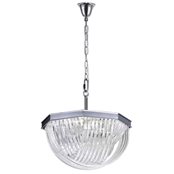 """24"""" 10 Light Chandelier with Chrome Finish"""