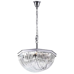 """32"""" 12 Light Chandelier with Chrome Finish"""