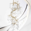 """Picture of 60"""" 12 Light Chandelier with Gold Leaf Finish"""