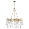 "Picture of 43"" 12 Light Chandelier with Gold Leaf Finish"