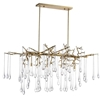 """Picture of 47"""" 10 Light Chandelier with Gold Leaf Finish"""