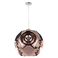 "10"" 1 Light Pendant with Copper Finish"