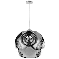 "10"" 1 Light Pendant with Chrome Finish"