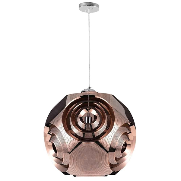 "Picture of 15"" 1 Light Pendant with Copper Finish"