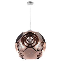"19"" 1 Light Chandelier with Copper Finish"