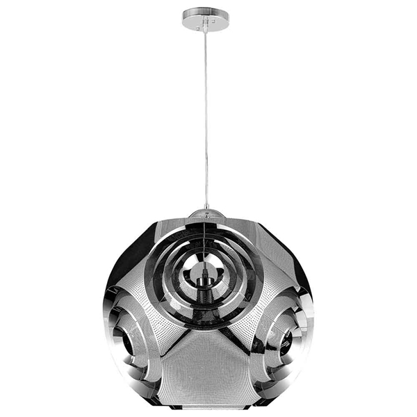 "Picture of 19"" 1 Light Chandelier with Chrome Finish"