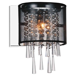 "10"" 1 Light Bathroom Sconce with Chrome finish"