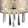 "Picture of 10"" 1 Light Drum Shade Mini Pendant with Satin Nickel finish"