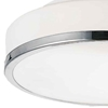 "Picture of 10"" 2 Light Drum Shade Flush Mount with Satin Nickel finish"