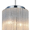 """Picture of 10"""" 2 Light Drum Shade Mini Pendant with Chrome finish"""