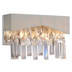 """10"""" 2 Light Wall Sconce with Chrome finish"""