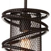 "Picture of 10"" 1 Light Down Mini Pendant with Brown finish"