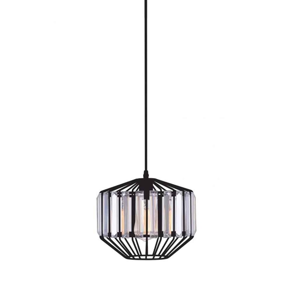 "Picture of 10"" 1 Light Down Pendant with Black finish"