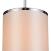 "Picture of 10"" 1 Light Drum Shade Mini Pendant with Chrome finish"