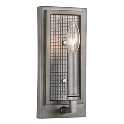 "10"" 1 Light Wall Sconce with Black Silver finish"