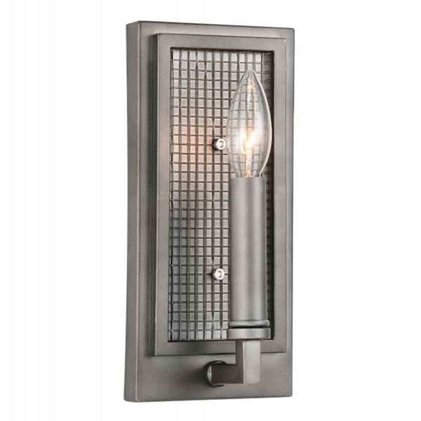 "Picture of 10"" 1 Light Wall Sconce with Black Silver finish"