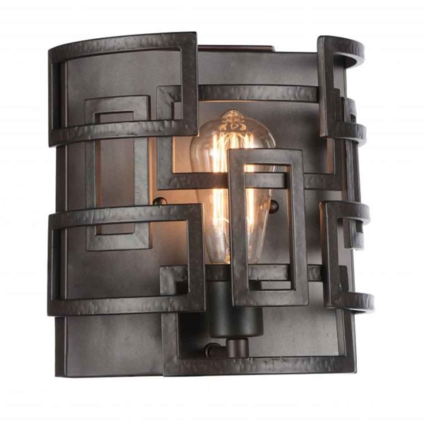"Picture of 10"" 1 Light Wall Sconce with Brown finish"