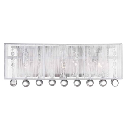 "10"" 3 Light Vanity Light with Chrome finish"