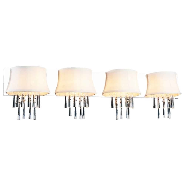 """Picture of 10"""" 4 Light Vanity Light with Chrome finish"""