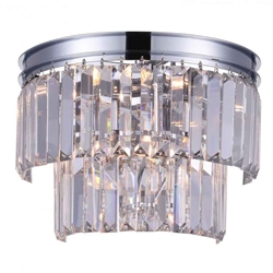 """10"""" 4 Light Wall Sconce with Chrome finish"""