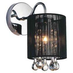 "10"" Gocce Modern Crystal String Shade Vanity Light Wall Sconce 1 Light"