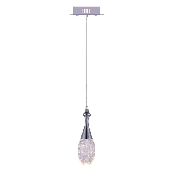 "Picture of 10"" LED Down Mini Pendant with Chrome finish"