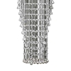 "Picture of 100"" Chateaux Modern Foyer Champagne / Clear Crystal Chandelier Mirror Stainless Steel Base 13 Lights"