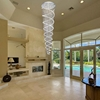 "Picture of 106"" Double Spiral Modern Foyer Crystal Round Chandelier Mirror Stainless Steel Base 12 Lights"