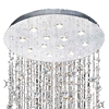 "Picture of 106"" Raindrops Modern Foyer Crystal Round Chandelier Mirror Stainless Steel Base 12 Lights"