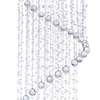 "Picture of 108"" Spiral Modern Foyer Crystal Round Chandelier Mirror Stainless Steel Base 12 Lights"