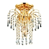 """Picture of 11"""" 1 Light  Flush Mount with gold finish"""
