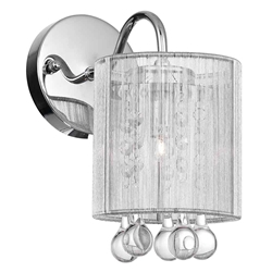 "11"" 1 Light Bathroom Sconce with Chrome finish"