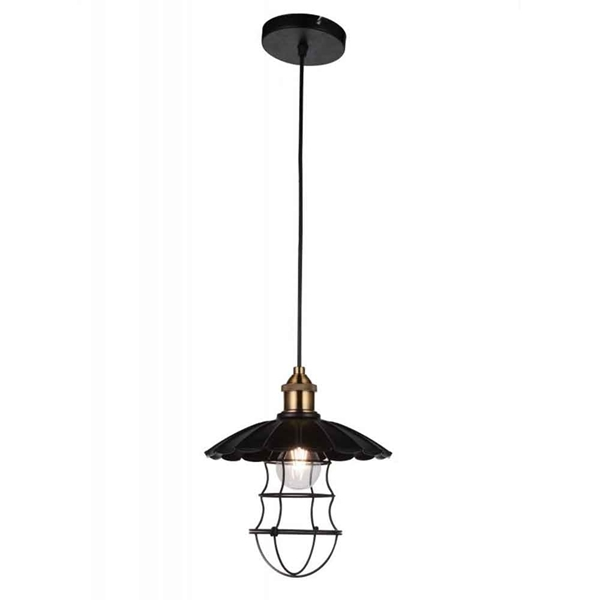 "Picture of 11"" 1 Light Down Mini Pendant with Black finish"