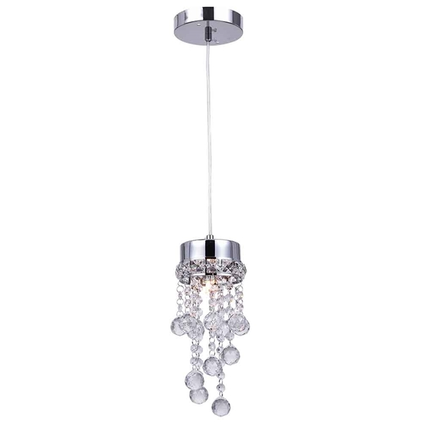 "Picture of 11"" 1 Light Down Mini Pendant with Chrome finish"
